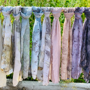 Eco-printen en natuurlijke kleurstoffen maken