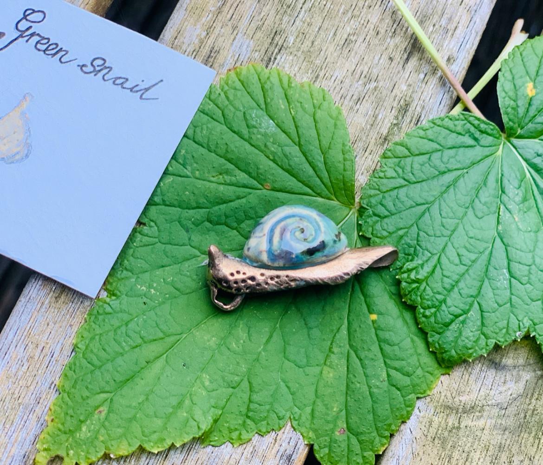Sieraden Hanger Green snail