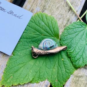 Sieraden Hanger Green snail 374