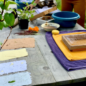 Botanisch verf en papier maken 548