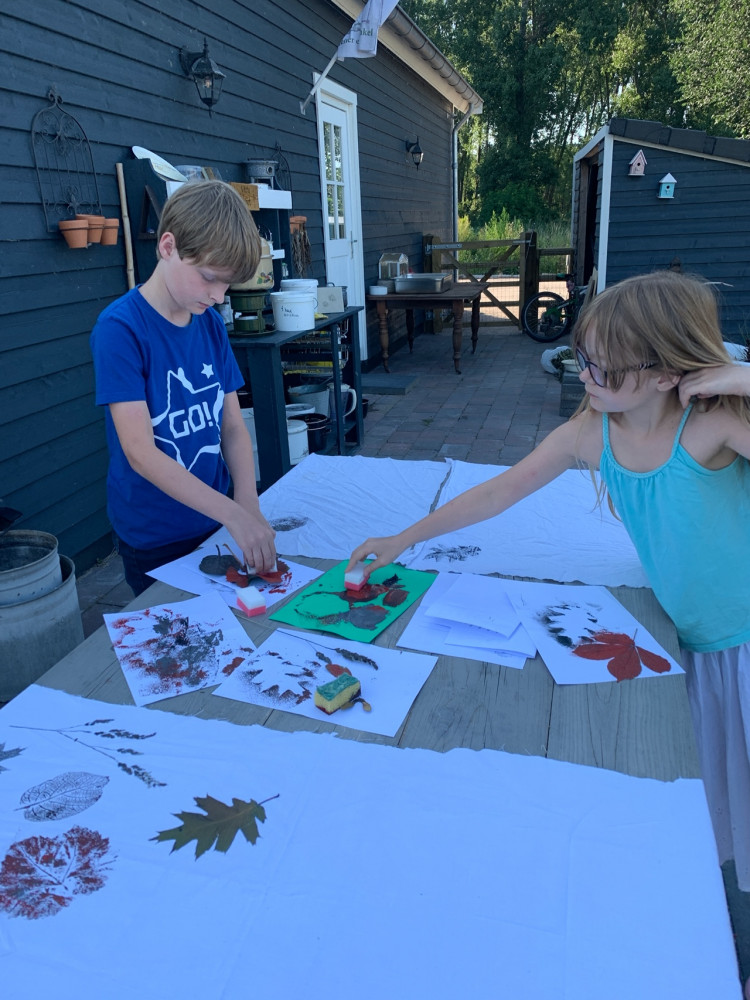 Kinderfeestje Eco-stempelen