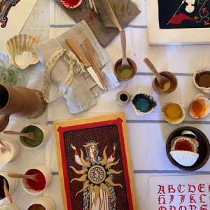 Middeleeuws miniatuur schilderen 665