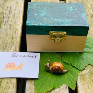 Sieraden Hanger Brown snail 88