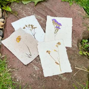 Bloemen papier A6