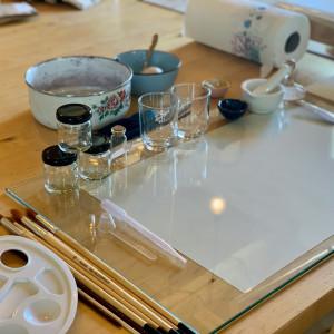 Botanisch verf en papier maken 546