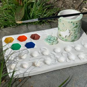 Palet set met aquarelverf